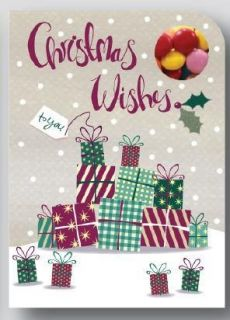 Sweeting Cards - Christmas Wishes - Presents - Milk Chocolate Beans 75g