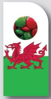 Sweeting Cards - Wales Flag Small - Milk Chocolate Beans 75g