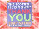 Scottish Fine Soap Company - Soap in a Tin  Thank You 100g
