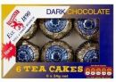 Tunnocks Dark Chocolate Tea Cakes 6 x 24g