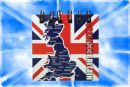 Union Jack Notebook with Map on Front 9cm x 9cm