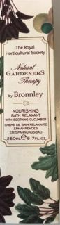 Bronnley RHS Natural Gardeners Nourishing Bath Relaxant with Cucumber 250ml