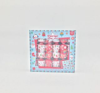 Christmas Cracker 6 Pack - Picture Lotto Game - Family Game Crackers