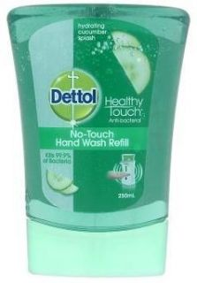 Dettol Healthy Touch Anti Bacterial No-Tuch Hand Wash Refill Cucumber 250ml