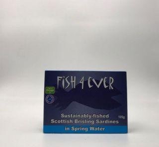 Fish 4 Ever Scottish Brisling Sardines in Spring Water 105g