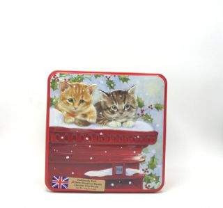 Grandma Wilds Kittens on Post Box - All Butter Shortbread and Chocolate Chips Biscuits 160g