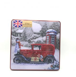Grandma Wilds Vintage Van & Post Box Tin - All Butter Shortbread Biscuits 400g