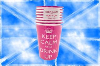 Keep calm and DRINK UP Pappbecher 8 x 266ml