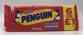 McVities Penguin Biscuits  6s 120g