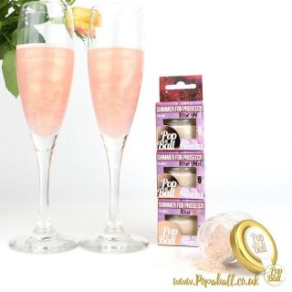 Pop a Ball - Rosé Gold Raspberry Shimmer for Prosecco - 21g