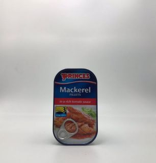 Princes Mackerel Fillets in a Rich Tomato Sauce 125g