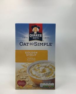 Quaker Oat So Simple Golden Syrup 10 Sachets 360g