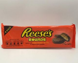 Reeses Peanut Butter Rounds 8 Pack 145g