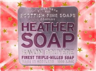 Scottish Fine Soap Company - Heather Soap in a Tin - 100g