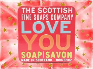 Scottish Fine Soap Company - Soap in a Tin - Love You - 100g