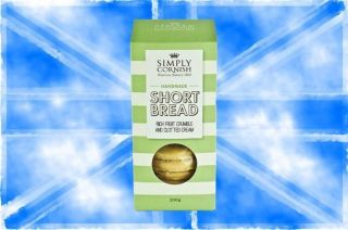 Simply Cornish Clotted Cream, Apple & Blackberry Shortbread Biscuit 200g