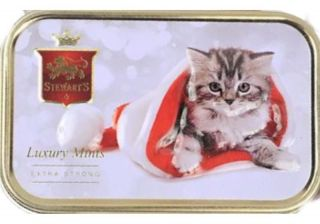Stewarts Luxury Mints Extra Strong - Christmas Kitten Tin - 45g