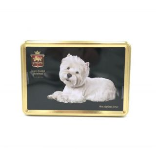 Stewarts Luxury Scottish Shortbread Black Edition West Highland Terrier Tin 150g