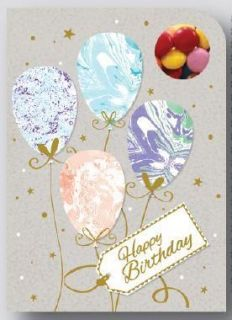 Sweeting Cards - Happy Birthday Baloons - Milk Chocolate Beans 75g