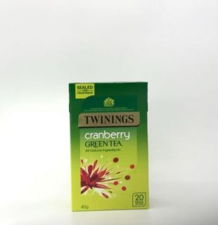 Twinings Green Tea with Cranberry 20 Tea Bags 40g