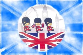 Union Jack / London Pappteller 8 stk. 22,2cm