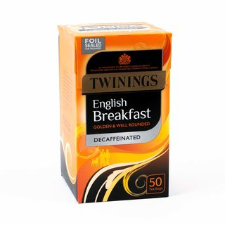 Twinings English Breakfast Decaffinated 50 Tea Bags 125g