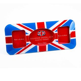 Union Jack Curved Photo Picture Frame for 3 Pictures