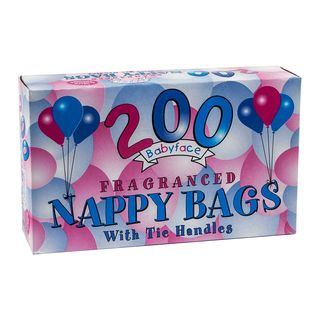 Babyface Fragranced Nappy Bags with Tie Handles 200s