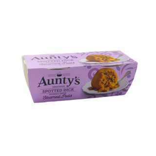 Auntys Steamed Puddings Spotted Dick 2 x 95g