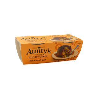 Auntys Steamed Puddings Sticky Toffee 2 x 95g