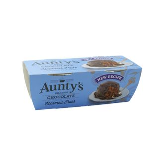 Auntys Steamed Puddings Chocolate 2 x 100g