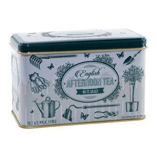 New English Teas - English Afternoon Tea 40 Tea Bags - Green Garden Tin