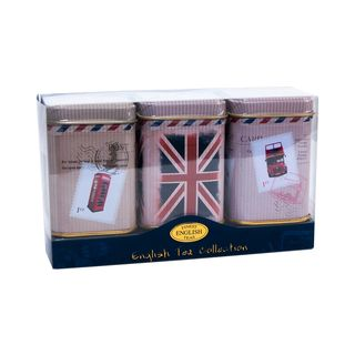 New English Teas - English Tea Loose Selection 3 x 25g - Vintage Post Card Tins
