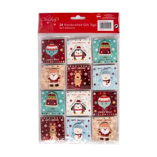 Christmas Present Gift Tags -  24 Handcrafted Gift Tags