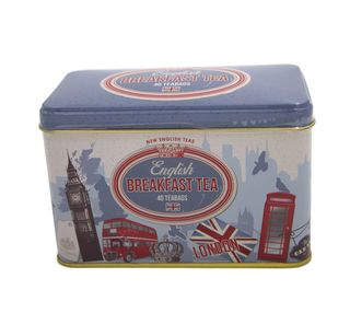 New English Teas - English Breakfast Tea 40 Tea Bags - London Vintage Tin