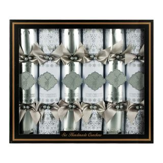 Handmade Christmas Cracker 6 Pack - Silver Stag
