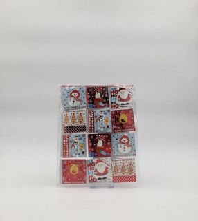 Christmas Present Gift Tags -  24 Handcrafted Gift Tags - Santa, Rudoph, Penguin and Snowman