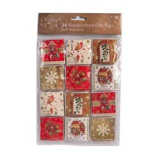 Christmas Present Gift Tags -  24 Handcrafted Gift Tags - Vintage Design
