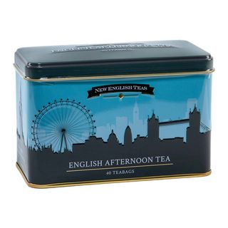 New English Teas - English Afternoon Tea 40 Tea Bags - Londons Skyline Tin