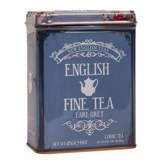 New English Teas - Earl Grey Tea - English Fine Tea Vintage Tin - 125g Loose Tea
