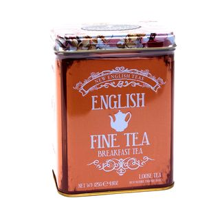 New English Teas - English Breakfast Tea Tea - English Fine Tea Vintage Tin - 125g Loose Tea