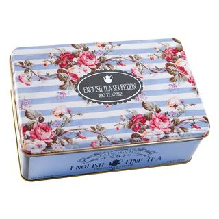 New English Teas - English Tea Selection (Breakfast, Earl Grey, Afternoon) 100 Tea Bags - English Fine Tea Tin