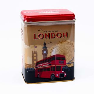 New English Teas - English Breakfast Tea 40 Tea Bags - Vintage London Travel Tin