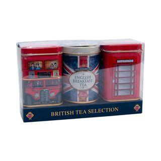 New English Teas - Loose Selection 3 x 25g - Union Jack and British Icons Tins