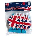 Union Jack Party Blowers - 8 Pack