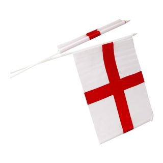 England - St. Georges - Hand Waving Flags - 2 Pack