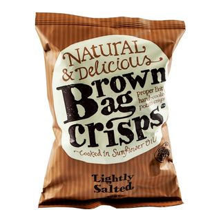 Brown Bag Crisps - Lightly Salted - 40g