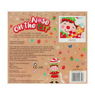 Christmas Cracker 6 Pack - Pin the Nose on the Elf - Family Game Crackers