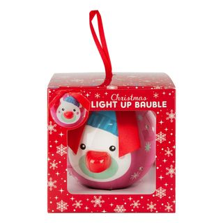 Christmas Light UP Bauble Eisbär Red